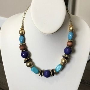 Fantastic Beaded Necklace  Great Colors!!